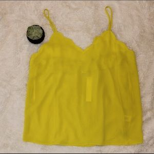 Yellow Scallop Tank Top